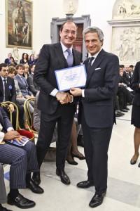 Premiazione della Fondazione Veronesi a Roma